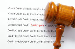 Bankruptcy court Royalty Free Stock Photography