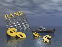Bankruptcy - 3D render Royalty Free Stock Photo
