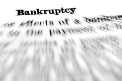 Bankruptcy Defined Royalty Free Stock Photos