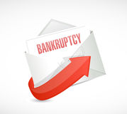 Bankruptcy email illustration design Royalty Free Stock Image
