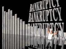 Bankruptcy, failing business. Royalty Free Stock Photo