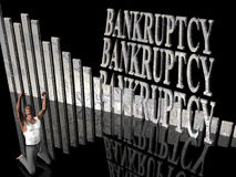 Bankruptcy, failing business, outcry. royalty free stock image