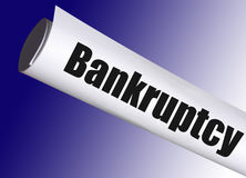 Bankruptcy form Stock Photo