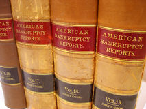 Bankruptcy Law Books. Vintage law books from the 1930's royalty free stock photos