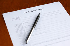 Bankruptcy petition Royalty Free Stock Photo