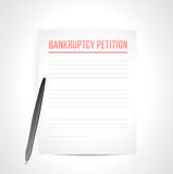 Bankruptcy petition illustration design Royalty Free Stock Photo