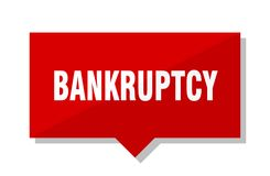Bankruptcy price tag. Bankruptcy red square price tag Stock Photography