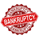 Bankruptcy red vintage stamp Royalty Free Stock Photos