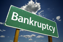 Bankruptcy Road Sign Stock Image