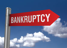 Bankruptcy road sign Stock Photography