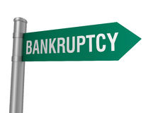 Bankruptcy road sign Royalty Free Stock Photography