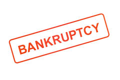 Bankruptcy Rubber Stamp Royalty Free Stock Image
