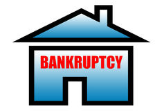 Bankruptcy sign. For bank finance home insurance housing real estate realtor government and etc Royalty Free Stock Photo