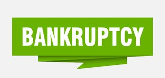 Bankruptcy. Sign.  paper origami speech bubble.  tag.  banner royalty free illustration