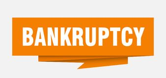 Bankruptcy. Sign.  paper origami speech bubble.  tag.  banner vector illustration