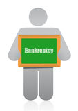 Bankruptcy sign and icon. Illustration design over white Royalty Free Stock Photo