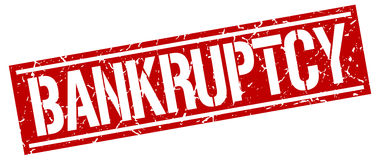 Bankruptcy square stamp. Bankruptcy square grunge red stamp Stock Photos
