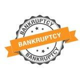 Bankruptcy stamp illustration. Bankruptcy stamp seal illustration design Stock Image
