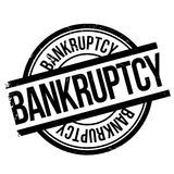 Bankruptcy stamp rubber grunge Stock Photo
