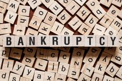 Bankruptcy word concept royalty free stock images