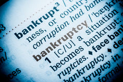 Bankruptcy Word Definition Stock Image