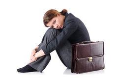Bankruttt affärskvinna arkivfoton