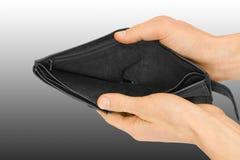 bankruttt plånbok royaltyfri foto