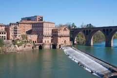 Banks of Albi. View on the Tarn of Albi, France Stock Photos