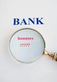banks bonusscrutiny royaltyfri bild