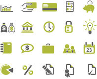 Banks and business icons set Stock Images