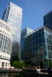 Banks in Canary Wharf, London Stock Image