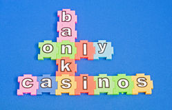 Banks are only casinos. Royalty Free Stock Images