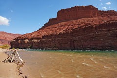 The banks of the Colorado River Stock Photography