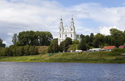 On the banks of the Daugava River. Sophia Cathedral. Polotsk. Belarus. St. Sophia Cathedral - the Cathedral of the city of Polotsk. Originally built between Stock Image