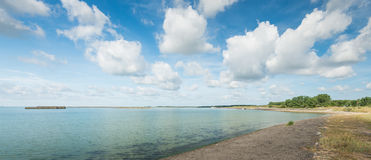 On the banks of a Dutch estuary in summertime Royalty Free Stock Photography