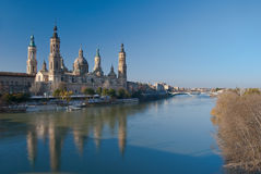 On the banks of the Ebro Stock Photos