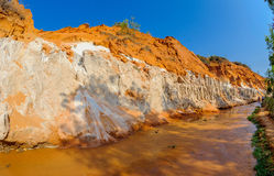 The banks of the fairy stream in Mui Ne vietnam Royalty Free Stock Photography