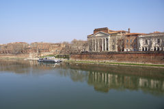 The banks of the Garonne. The banks of the Garonne in Toulouse, France Stock Images