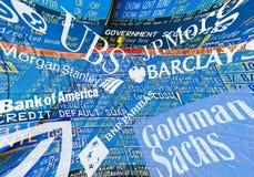 banks globalt Royaltyfri Fotografi