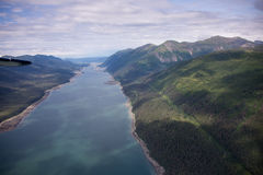 Banks of Inside Passage, Juneau, Alaska Royalty Free Stock Photography