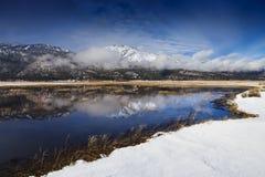 Banks of lake in Slide Mountain, Washoe Valley, Nevada Stock Image