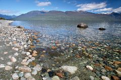 Banks of the Lake Te Anau, New Zealand Stock Image