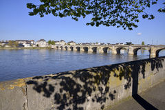 The banks of the Loire at Saumur Royalty Free Stock Image