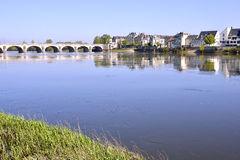 The banks of the Loire at Saumur Royalty Free Stock Images