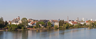 The banks of the main river in Frankfurt-Griesheim Stock Photos