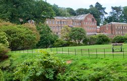Banks of the mill. Quarry bank mill wilmslow Cheshire England united kingdom royalty free stock image