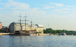 On the banks of the Neva River Stock Photography