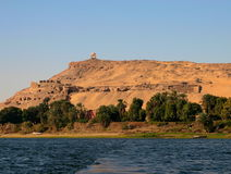 The banks of Nile near Aswan Royalty Free Stock Photo