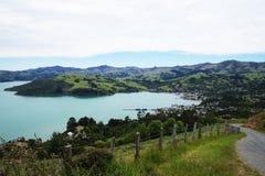 Banks Peninsula in the Canterbury, New Zealand Stock Photos