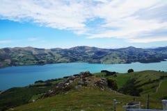 Banks Peninsula in the Canterbury, New Zealand Royalty Free Stock Photo